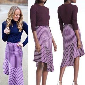 Banana Republic Purple Striped Asymmetrical Skirt8